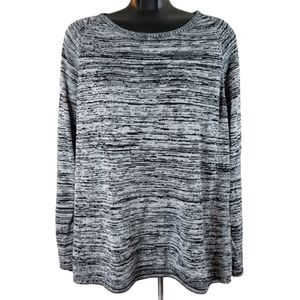 FIREFLY Sweater Grey White Black Pull Over Heather